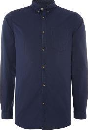 Jack & Jones , Men's  Long Sleeve Button Through Shirt, Navy