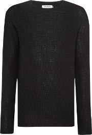 Jack & Jones , Men's  Textured Crew Neck Jumper, Black