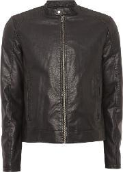Jack & Jones , Men's  Zip Through Biker Jacket, Black