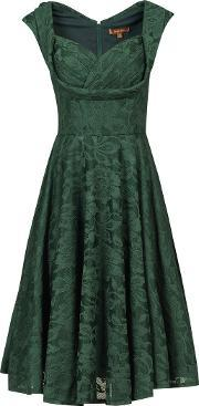 Jolie Moi , Ruched Crossover Bust Prom Dress, Dark Green