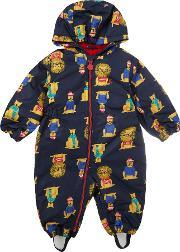 Joules , Toddler Boy Snowsuit Lion Hood, Navy