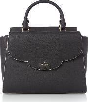 Kate Spade New York , Leewood Place Makayla Flapover Tote Bag, Black