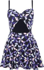 Kate Spade New York , Spinner Cut Out Swimdress, Navy
