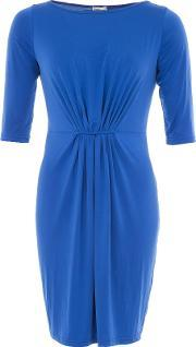 Lavand , Jersey Dress With Gathered Effect, Blue