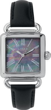 Links Of London , Driver Black Mother Of Pearl Watch, Steel