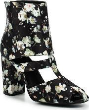 Lost Ink , Denny Floral Block Heel Ankle Boots, Multi Coloured