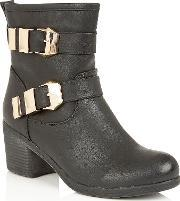 Lotus , Keely Ankle Boots, Black