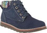 Lotus , Sequoia Lace Up Ankle Boots, Navy