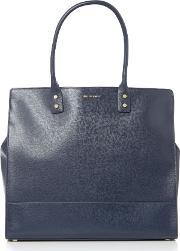 Lulu Guinness , Daphne Large Leather Tote Bag, Navy