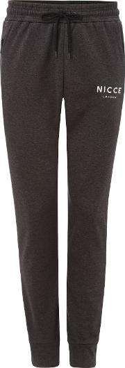 Nicce , Men's  Polytech Relaxed Fit Tracksuit Bottoms, Black