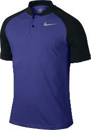 Nike , Men's  Transition Dry Color Blocked Polo, Blue