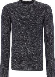Only & Sons , Men's  Chunky Knit Crew Neck Jumper, Dark Navy