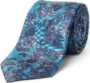 Paul Costelloe , Foley Floral Silk Tie, Green
