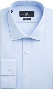 Paul Costelloe , Men's  Slim Fit Blue Single Cuff Shirt, Blue