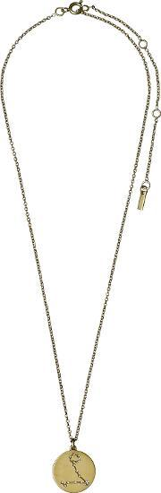 Pilgrim , Pisces Crystal Gold Plated Necklace, Na