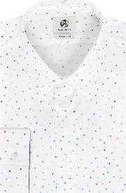 Ps By Paul Smith , Men's  Formal All Over Spot Print Shirt, White