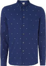 Ps By Paul Smith , Men's  Tailored Fit Dice Men Printed Shirt, Navy