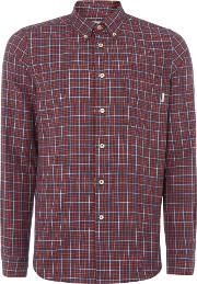 Ps By Paul Smith , Men's  Tailored Fit Flannel Checked Shirt, Red