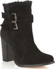Ravel , Silverton Ankle Boots, Black Suede
