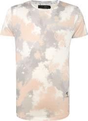 Religion , Men's  Faded Crew Neck T Shirt, Pink