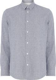 Selected Homme , Men's  Speckle Yarn Long Sleeve Shirt, Blue