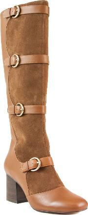 Shellys London , Amersham Knee High Multi Buckle Boots, Brown