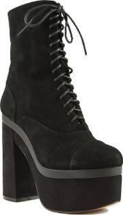 Shellys London , Balham Lace Up Platform Ankle Boots, Black