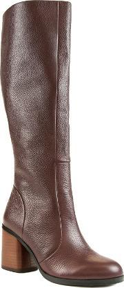 Shellys London , Bethnal Green Knee High Boots, Red