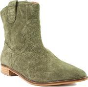 Shellys London , Bowroad Casual Western Ankle Boots, Green