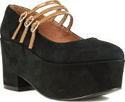 Shellys London , Wakefield Maryjane Demi Wedge Heels, Black
