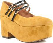 Shellys London , Wakefield Maryjane Demi Wedge Heels, Brown