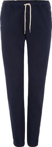Soulland , Men's  Cuffed Drawstring Tracksuit Bottoms, Navy