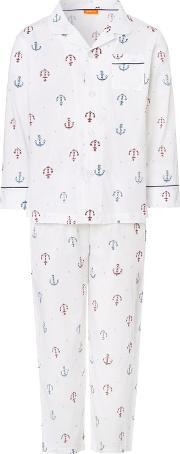 Sunuva , Boys Anchor Pyjama Set, Multi Coloured