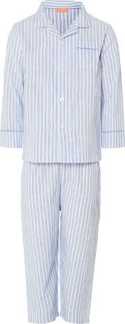 Sunuva , Boys Blue And White Stripe Pyjama Set, Blue
