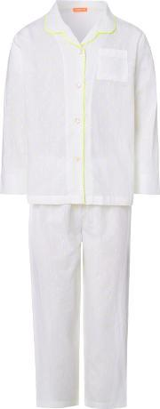 Sunuva , Girls Neon Dot Pyjama Set, White