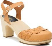 Swedish Hasbeens , Fringy Sandal Sandals, Natural