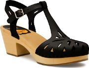 Swedish Hasbeens , Lacy Sandal Sandals, Black Multi