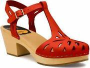Swedish Hasbeens , Lacy Sandal Sandals, Red