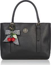 Tommy Hilfiger , Novelty Handle Tote Bag, Black