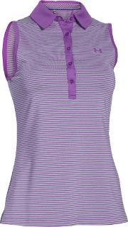 Under Armour , Zinger Sleeveless Stripe Polo, Pink