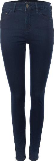 Waven , Asa Mid Rise Skinny Jean In Solid Navy, Navy
