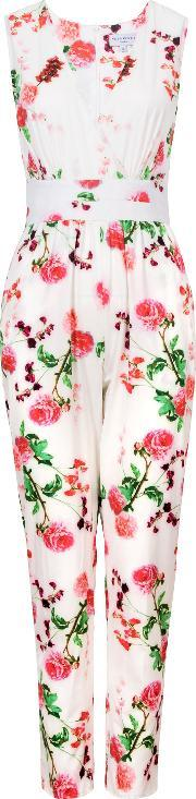 Wolf & Whistle , Carnations Jumpsuit, Multi Coloured