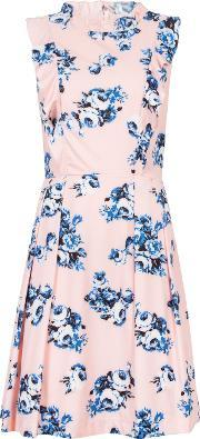 Wolf & Whistle , Floral Frill Dress, Multi Coloured