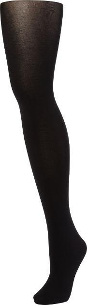 Wolford , Cotton Velvet Opaque Tights, Black