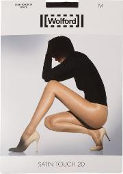 Wolford , Satin Touch 3 Pair Pack 20 Denier Tights, Vaguely Black