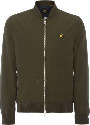 Lyle And Scott , Men's  Bomber Zip Through Jacket, Sage
