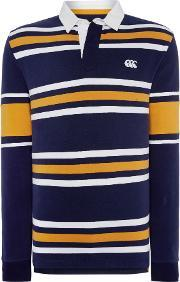 Canterbury , Men's  Ls Stripe Rugby, Navy