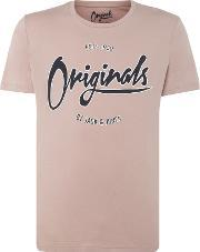 Jack & Jones , Men's  Large Logo Short Sleeve T Shirt, Mauve