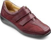 Hotter , Faith Ladies Touch Close Shoe, Maroon
