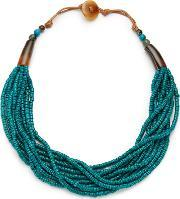 East , Seed Bead Necklace, Turquoise